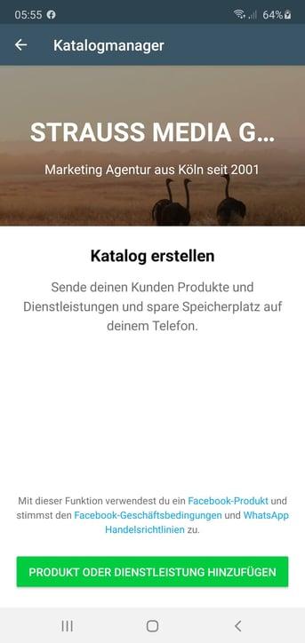 WhatsApp Business Katalog erstellen